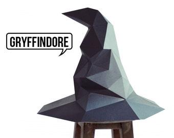 Halloween Harry Potter-Sorting Hat papercraft model DIY template