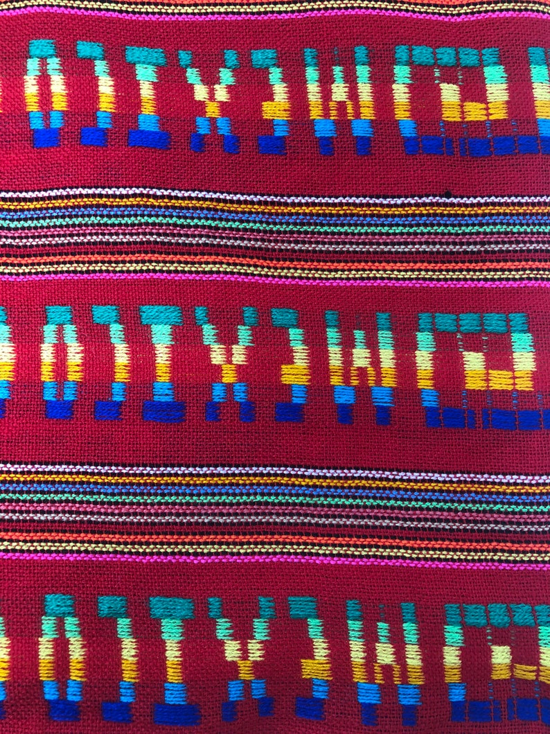 Mexican Fabric 1 Mt Canbaya  fiesta Fabric for decoration table runner napkins coco theme party fabric for cushions tribal 5 de mayo tela
