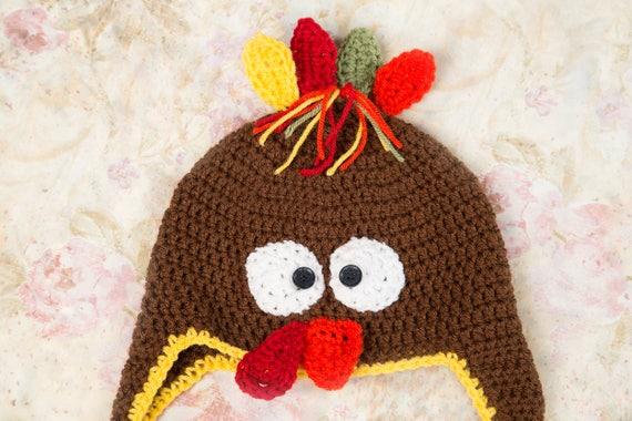 aec57c1d9f7 Turkey hat Turkey trot hat Newborn turkey hat Crochet
