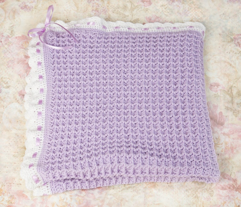 Green crochet baby blanket Baby shower gift Crochet baby girl blanket Knit baby afghan