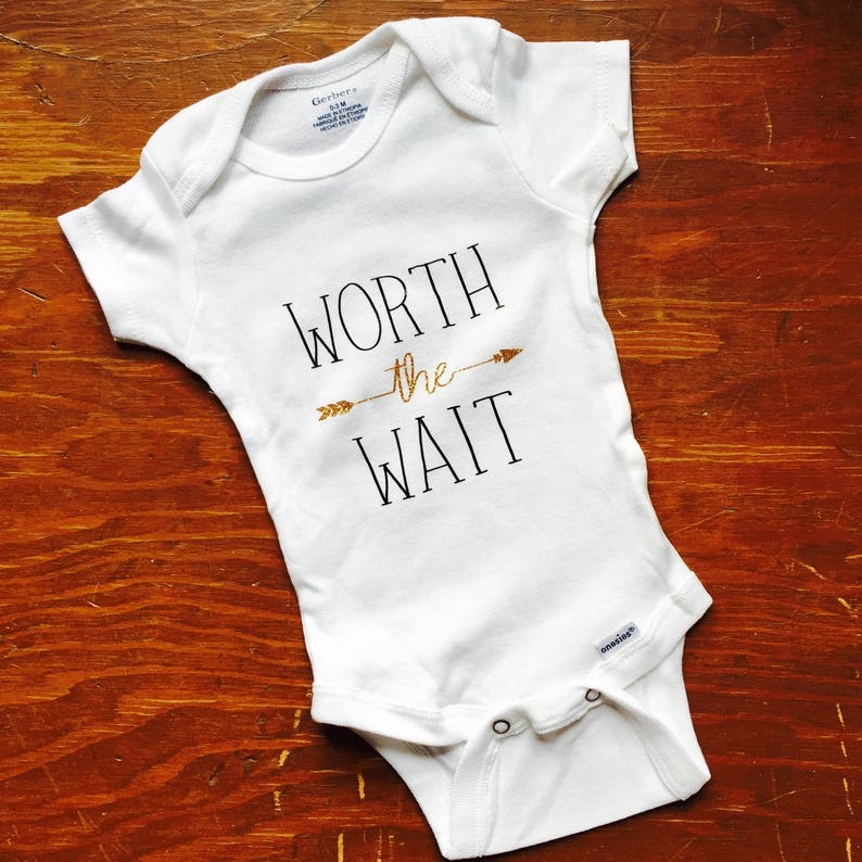 046ce51c081c Worth the Wait onesie baby gift newborn outfit baby coming
