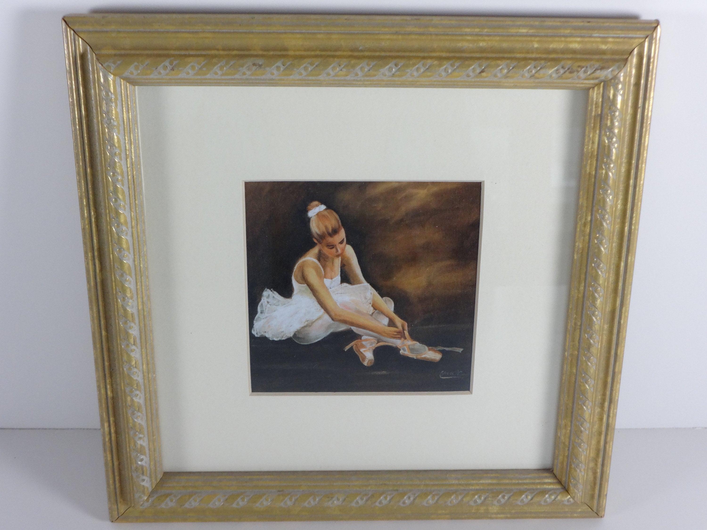 81382563962a Framed Gold Ballerina Print Gold Framed Art Prints Ballerina