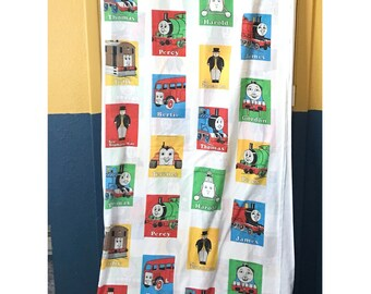 Vintage Thomas The Tank Engine Twin Size Childrens Bed Sheet