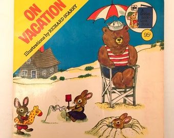 Vintage On Vacation Children's Story Book