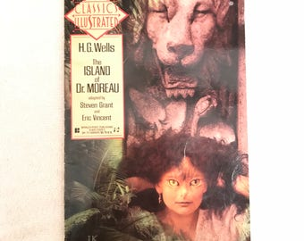 Vintage Illustrated H.G. Wells The Island Of Dr. Moreau