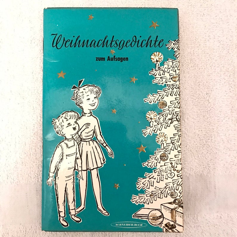 Google Weihnachtsgedichte.Vintage German Language Children S Christmas Poem Book