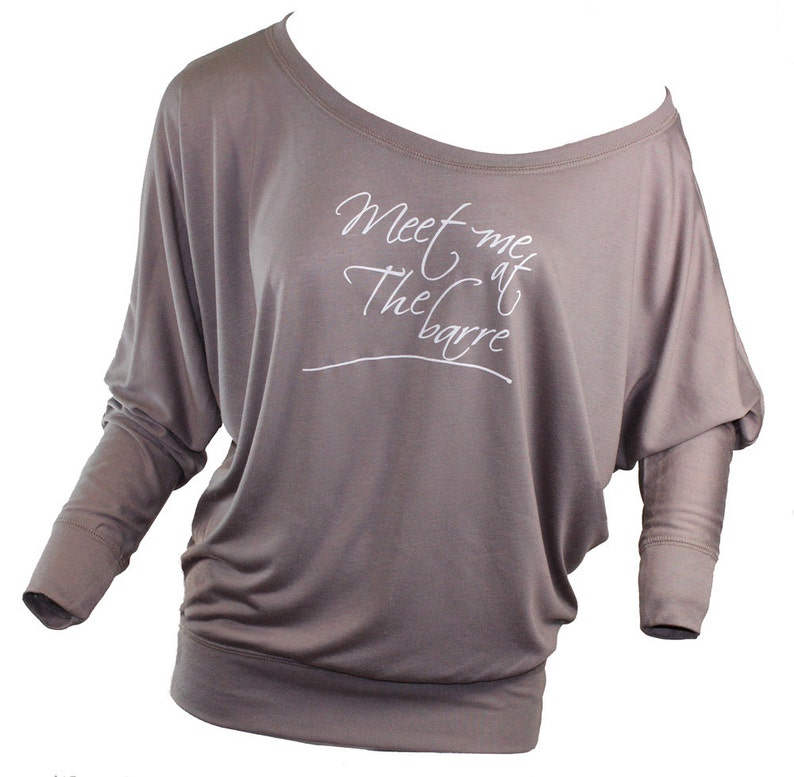 fd0701d0 Meet me at the Barre long sleeved slouchy tee. Girly shirt. | Etsy