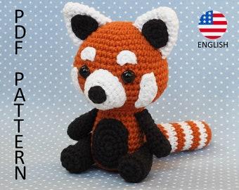 Red Panda Amigurumi Crochet Pattern