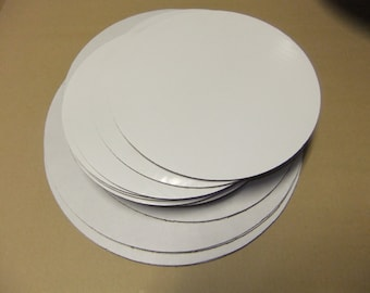 white cardboard cake circles  / we offer free shipping on all orders