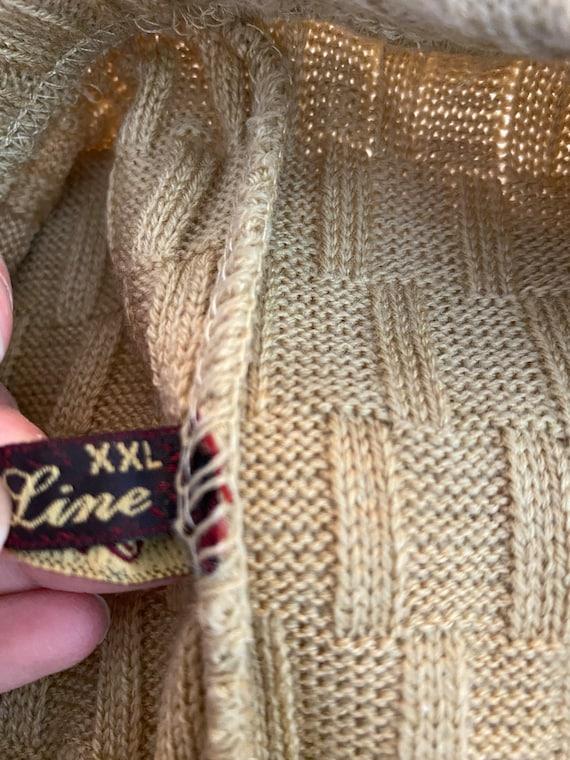 Vintage Knit crochet high waisted pants L - image 5
