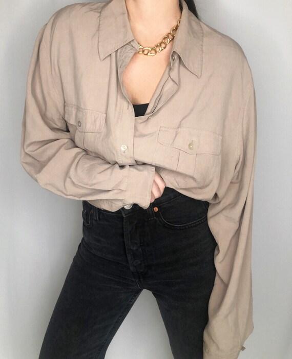 Vintage 90's silk blouse XL