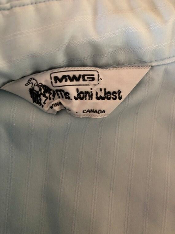 Vintage 70's Ms Joni West baby blue western shirt… - image 3