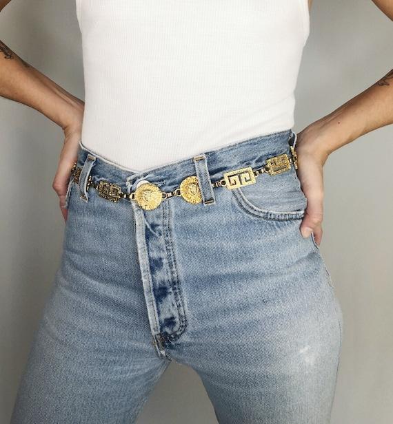 Vintage 90's gold chain belt