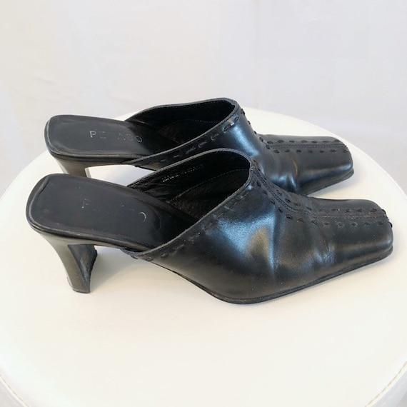 Vintage 90's Pegabo square toe mules 38