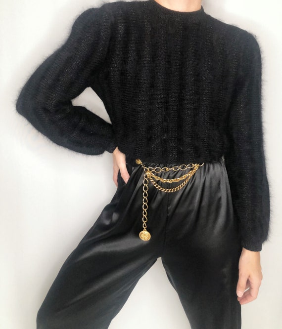 Vintage 80's knit mohair sweater jumper S