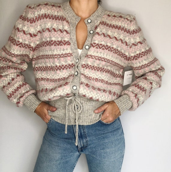 Vintage 70's pure Shetland wool cardigan S