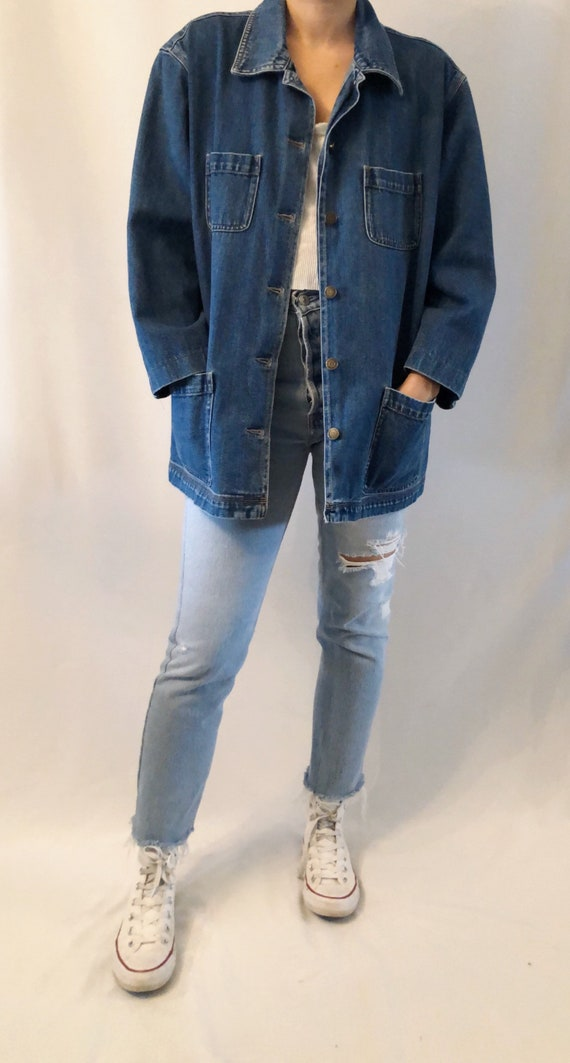Vintage 90's Gap workwear denim jacket L
