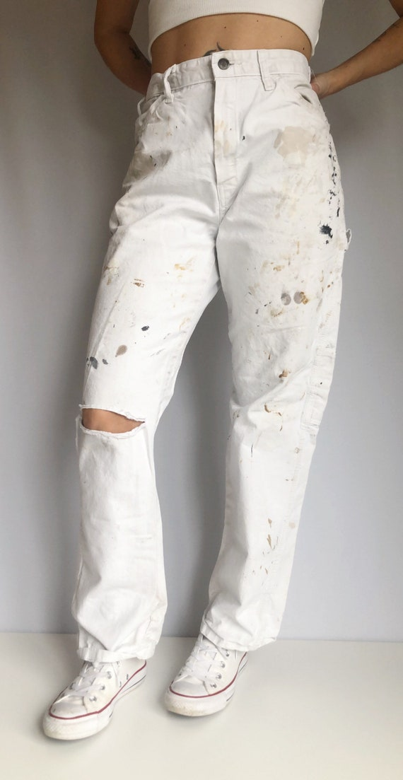 Vintage distressed painted Dickies painter carpent