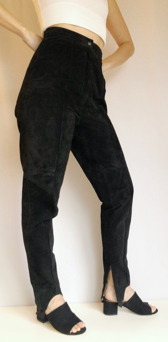Vintage Suede stirrup pants Danier riding pants 8