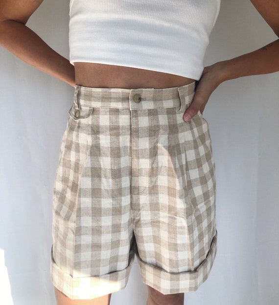 Vintage 90's plaid checkered bermuda shorts 29
