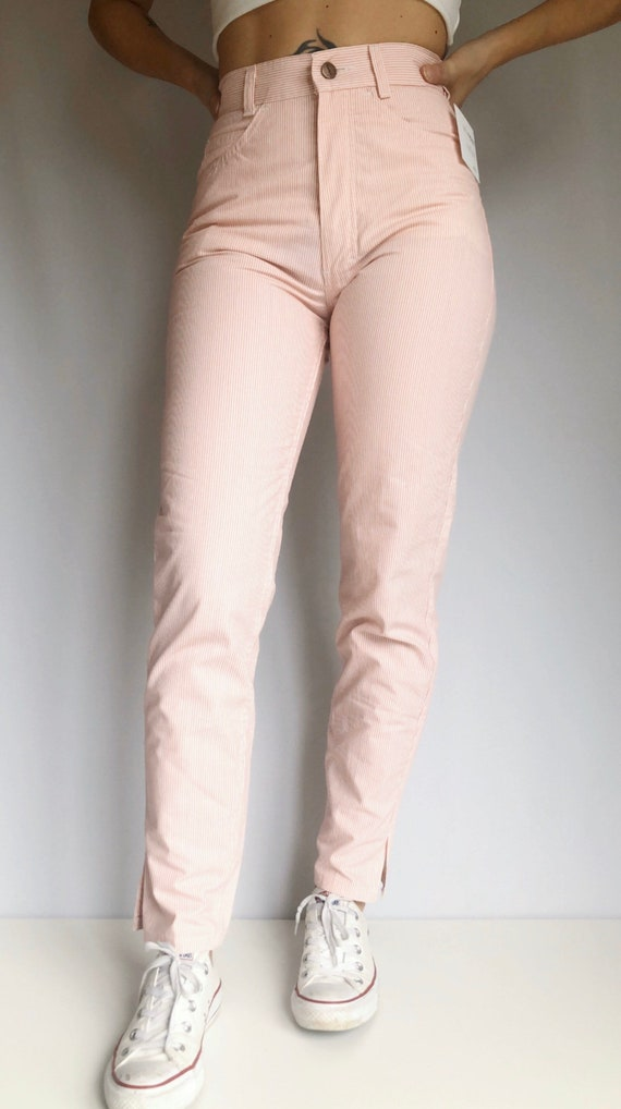 Vintage pinstripe high waisted pants 26