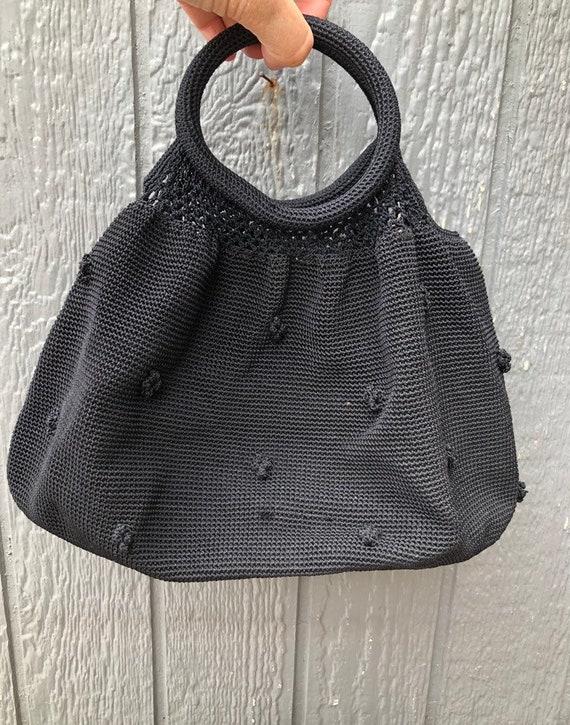 Vintage 90's crochet handbag
