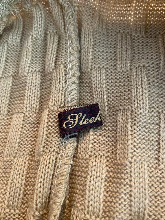 Vintage Knit crochet high waisted pants L - image 4