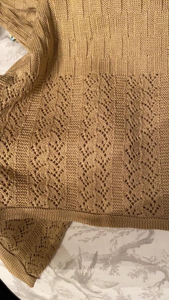 Vintage Knit crochet high waisted pants L - image 6
