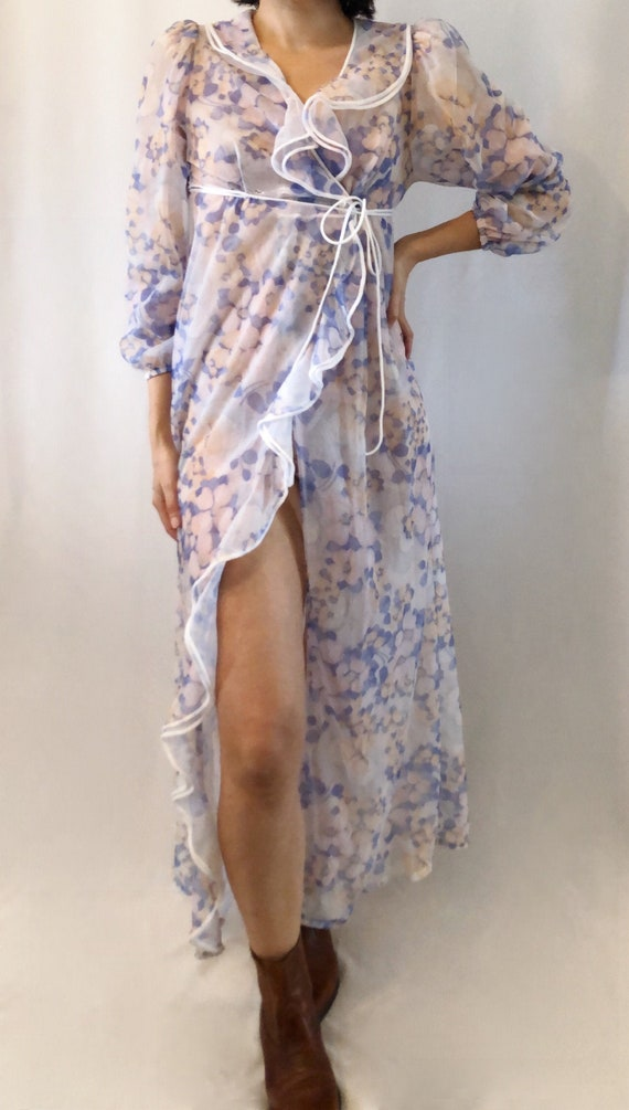Vintage 70's floral robe Small