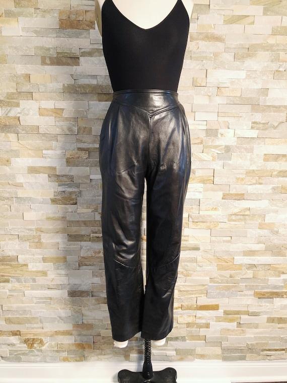 Vintage Leather pleat pants 80's Danier 4