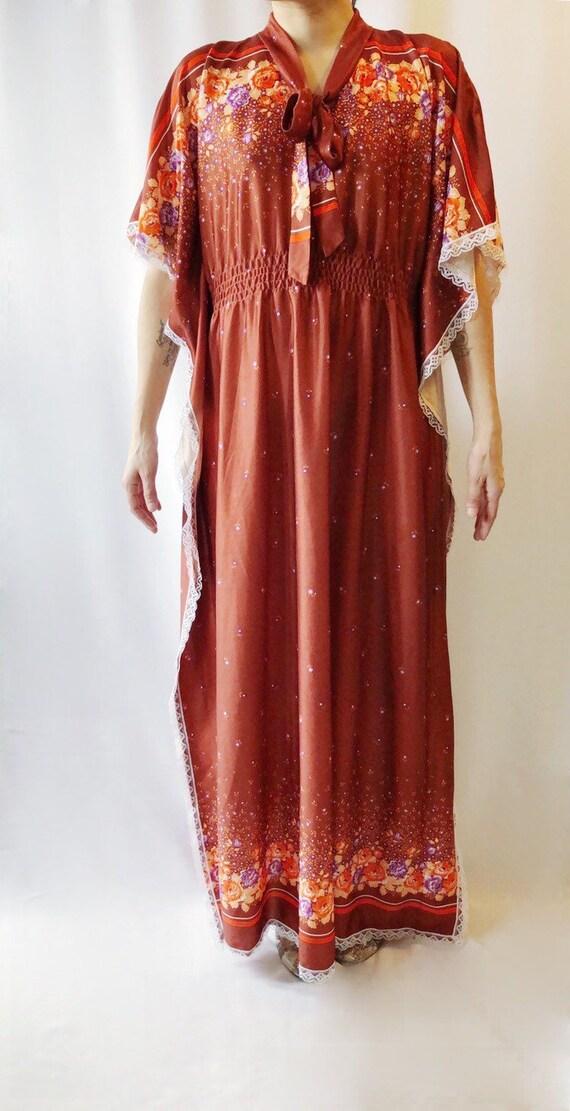 Vintage 1970's caftan dress M