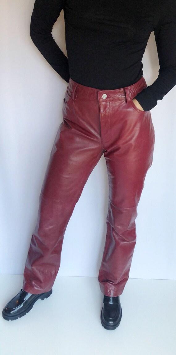 Vintage Gap bootcut leather pants 29