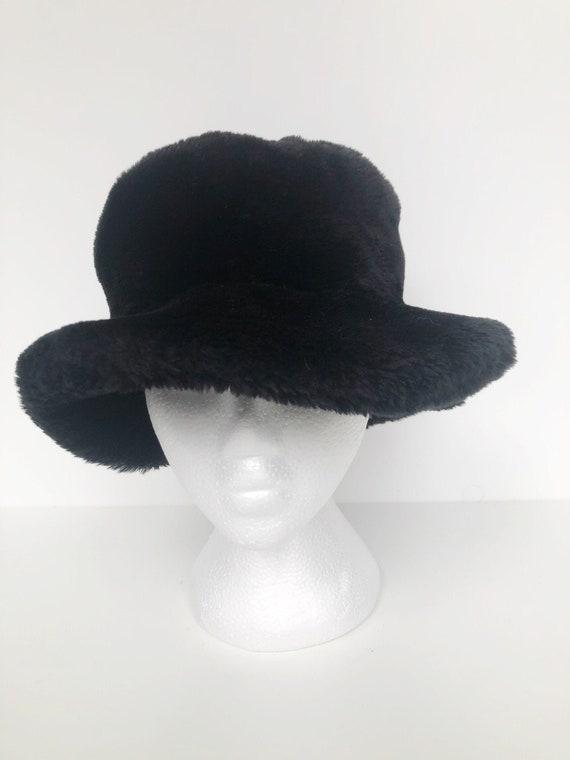 Vintage FERSTEN faux fur bucket hat S