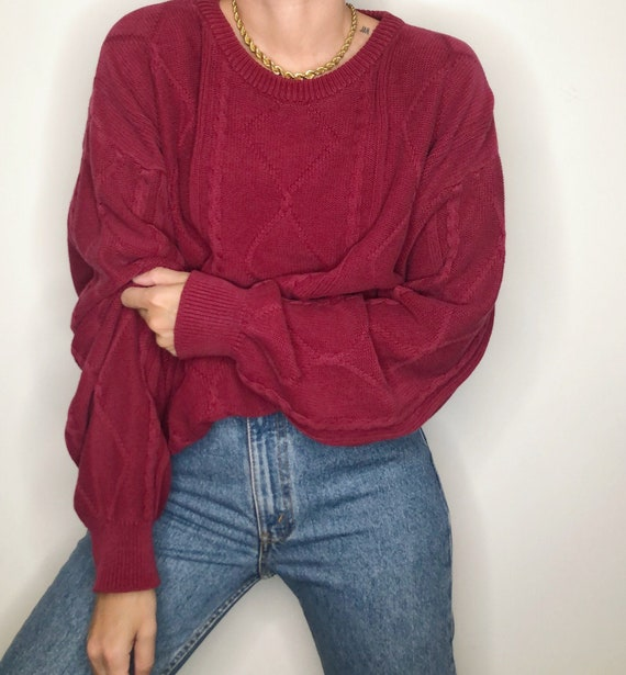 Vintage Yves Saint Laurent menswear cable knit swe