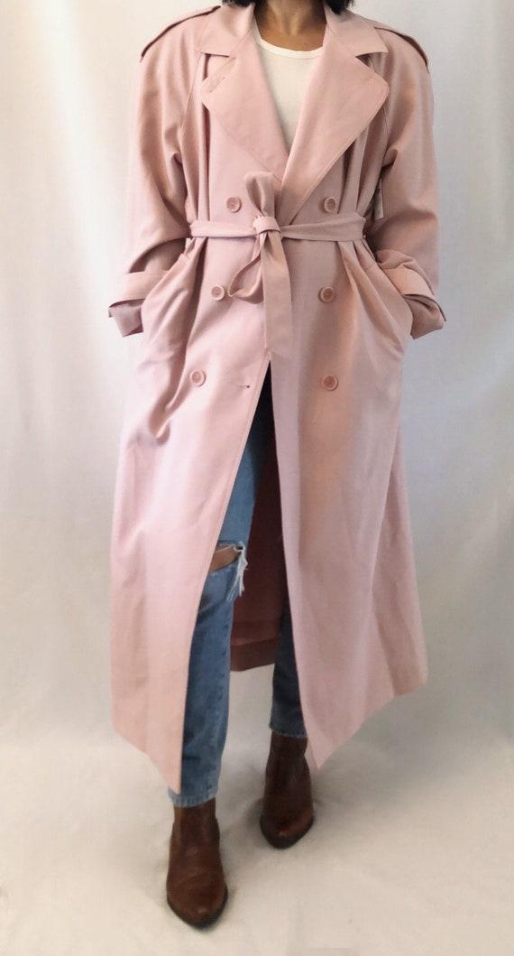 Vintage 80's pink trench coat