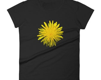 Dandelion Woodcut Design - Women's short sleeve t-shirt