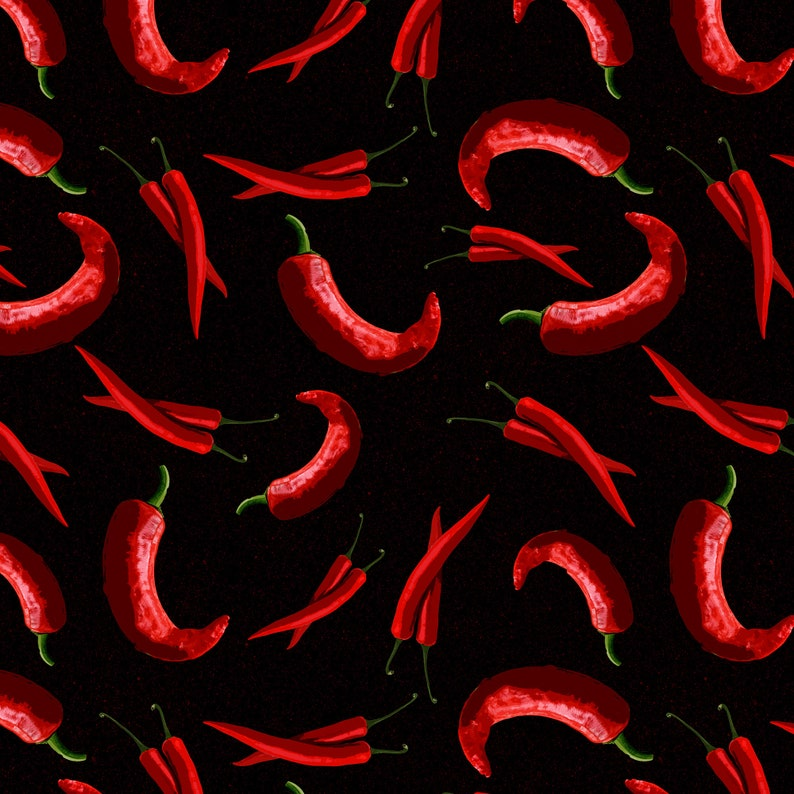 Spicy Red Chili Pepper Leggings Black Background