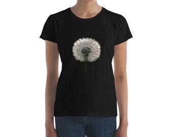 Dandelion Fluff Woodprint Design Women's short sleeve t-shirt