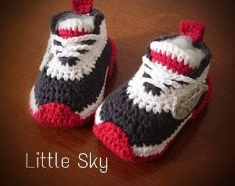 Crochet Nike Baby Shoes Pattern