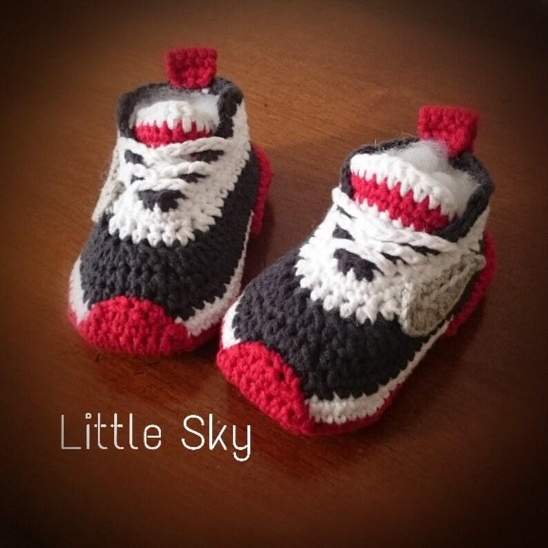 a74412cf8b3d8 Crochet Nike Baby Shoes Pattern