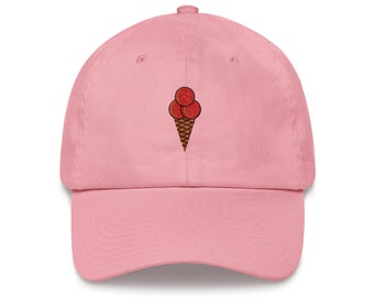 f35c38ce211 Ice Cream Cone - Dad Hat - Unstractured 6-panel Baseball Style outdoor  Sports Hat