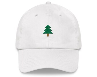 Pine Tree Dad Hat - Unstractured 6-panel Baseball Style outdoor Sports Hat acbc24594212