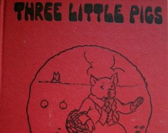 Three Little Pigs, Watty Piper, 1955, Platt Munk, Vintage 1950s Children's Book, 1925
