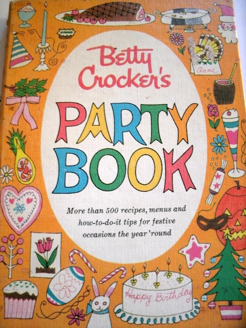 Betty Crocker's Party Book, Vintage 1960s Cookbook, 1960, Mid Century