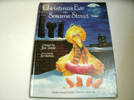 Christmas Eve On Sesame Street.Christmas Eve On Sesame Street Vintage Children S Book Big Bird 1980s 1981