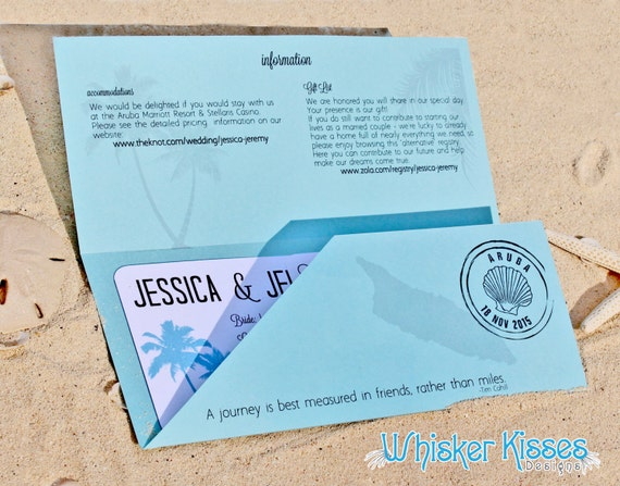 Boarding Pass Wedding Invitation Save the Date Travel Theme | Etsy