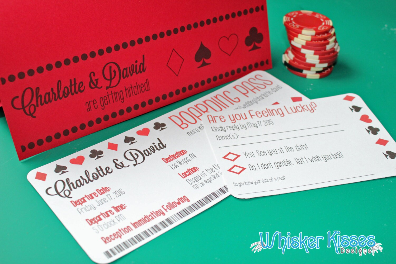 Boarding Pass Wedding Invitation Vegas wedding invitation | Etsy