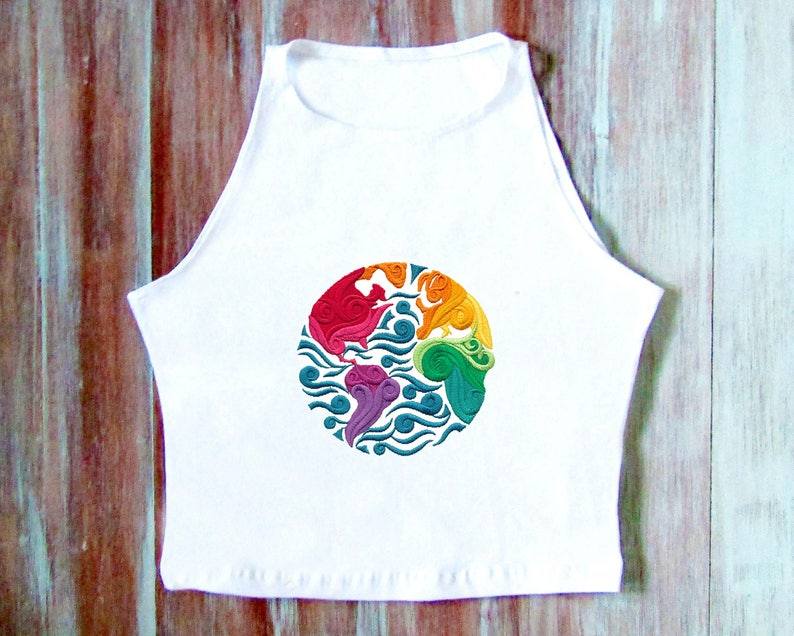 Hippie Earth Crop Top-Hipster Crop Top-Festival Clothing-Yoga Crop Top