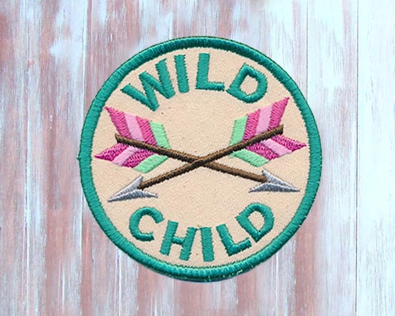 Wild Child Iron-On Patch-Embroidered Funny Patch-Wild Child Patch  b3d8f2cbc44