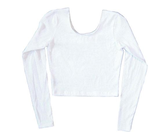 Nah Long Sleeve Crop Top Cropped White Shirt-Lone Sleeve Yoga Top